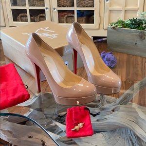 Christian Louboutin Bianca Patent Nude Heels